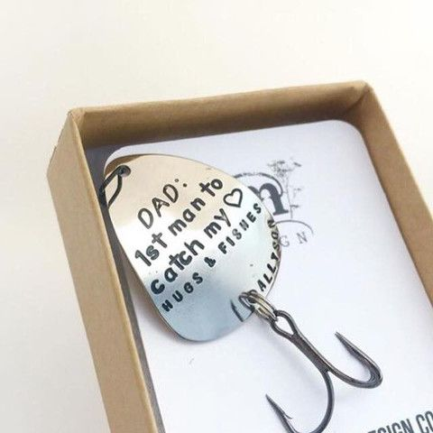 Dad 1st Man to Catch My Heart Fishing Lure Gift for Dad on Wedding day for My Dad www.sierrametaldesign.com