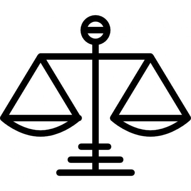 Símbolo de la balanza de la justicia