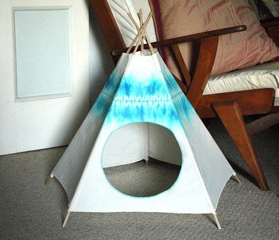 Cat Bed, Mediterranean Blue Kiteepee, Cat Teepee, Cat House, Litter Box Cover