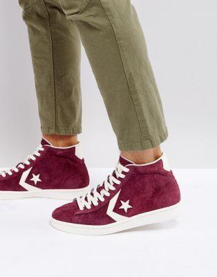 51e53713709 Converse Pro Leather 76 Mid Sneakers In Purple 157691C626 ...