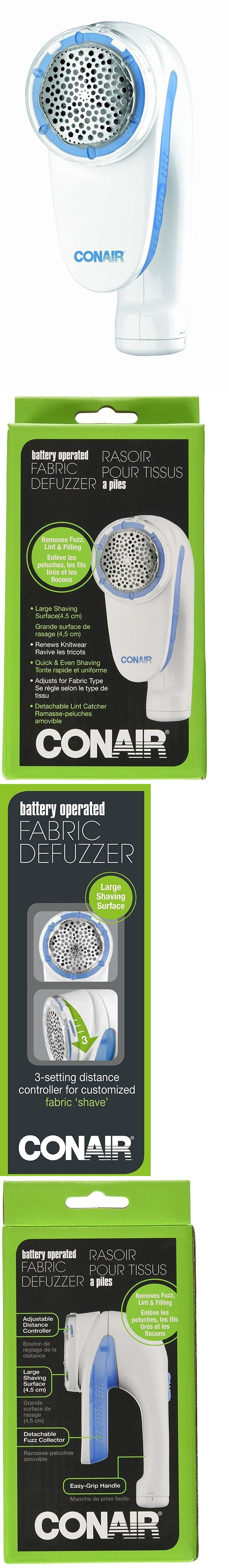 Lint Removers and Lint Shavers 170626: Fabric Shaver Defuzzer Battery Operated Conair Lint Fuzz Remover Plastic White -> BUY IT NOW ONLY: $49.41 on eBay!