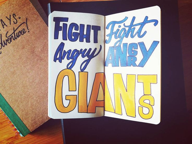 I  giants   #inktober #ink #posca #tombow #tombowdualbrushpens #giants #fight #letteringco #handlettering #thedesigntip #thedailytype #handmadefont #lettering #moleskine #sketchbook #script #adventure #goodtype #creative