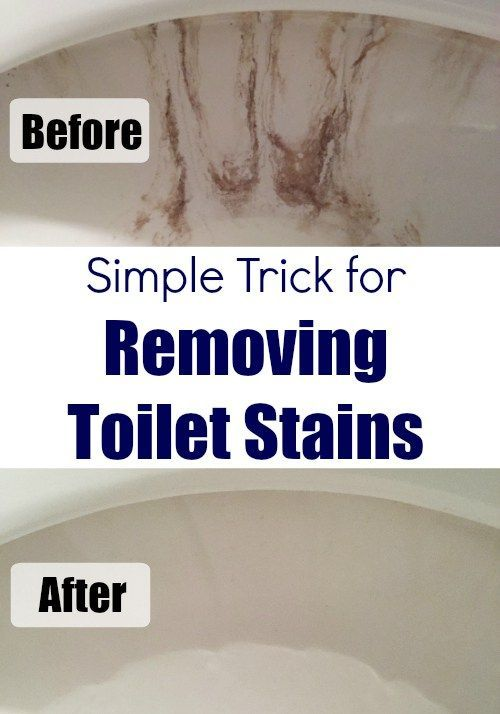 If I had know removing nasty toilet stains was this easy, I would have done it a long time ago!