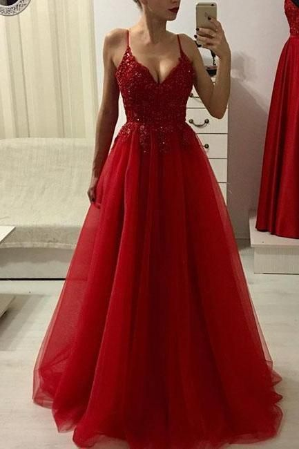 Red Prom Dresses,Prom Dress 2019,A Line Evening Gowns,Special Occasion Dress,Par… – Kleider