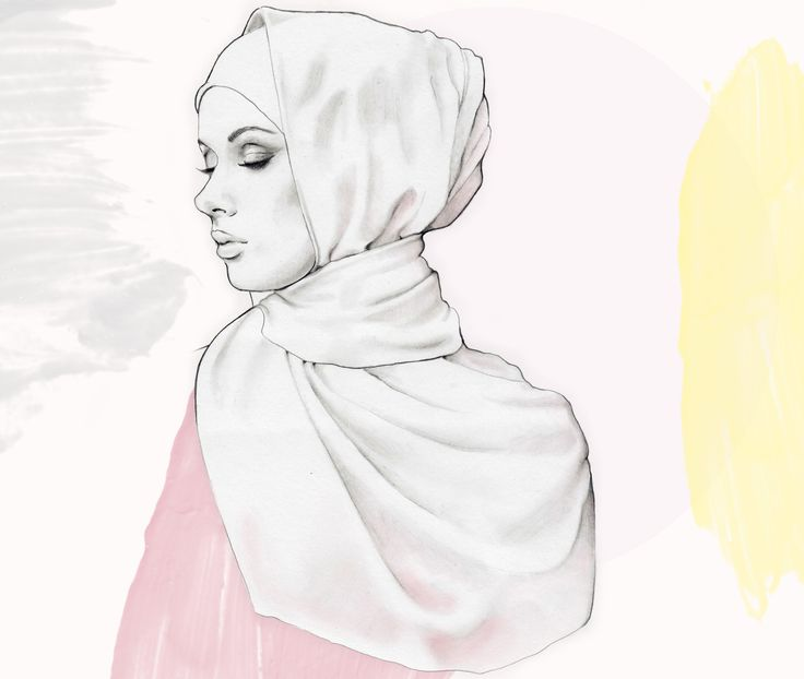 'Woman in a Hijab' — a commission for VOGUE Arabia