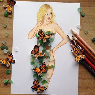 look at the butterflies, they so vivid