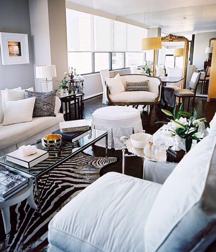 Laurann Claridge   Cozy, Chic City Living Space Design With Black U0026 White  Zebra Cowhide Rug, . Part 92