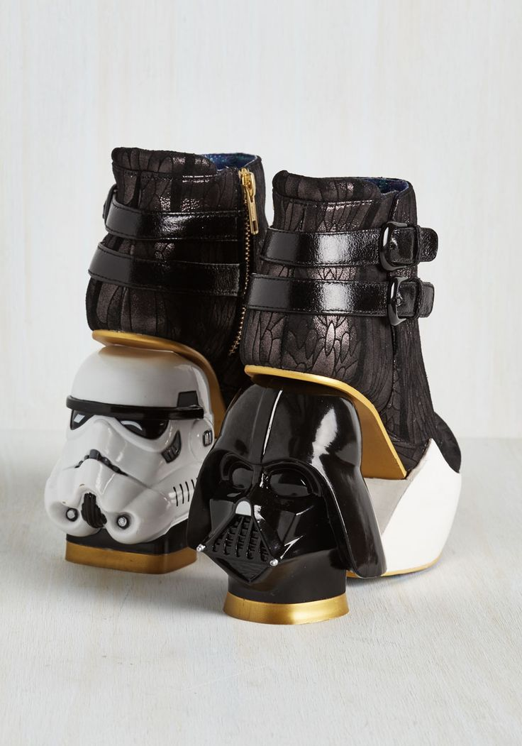 The Empire Struts Back Bootie. In a galaxy not so far away, these Star Wars-inspired booties were crafted to fit your fearless sense of style. #black #modcloth
