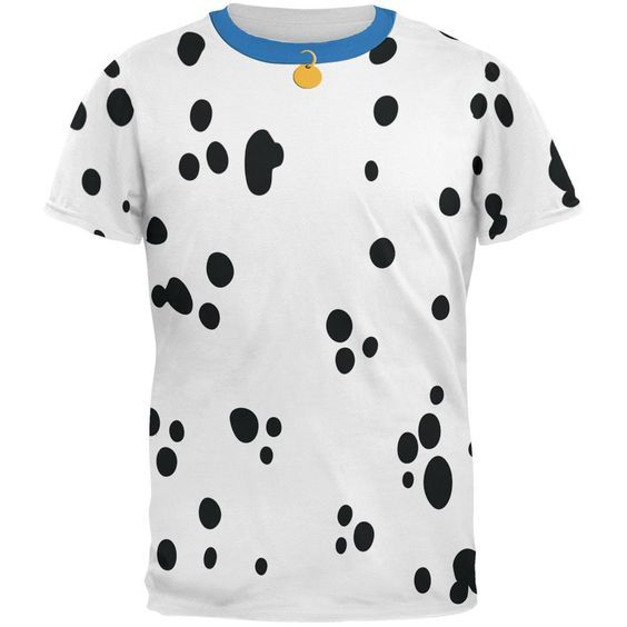 Dog Dalmatian Costume All Over Adult T-Shirt | AnimalWorld.com