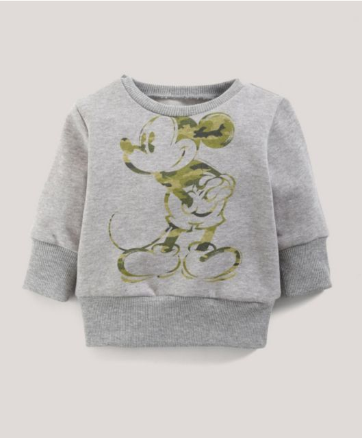 Boys Disney Mickey Mouse Camouflage Jumper