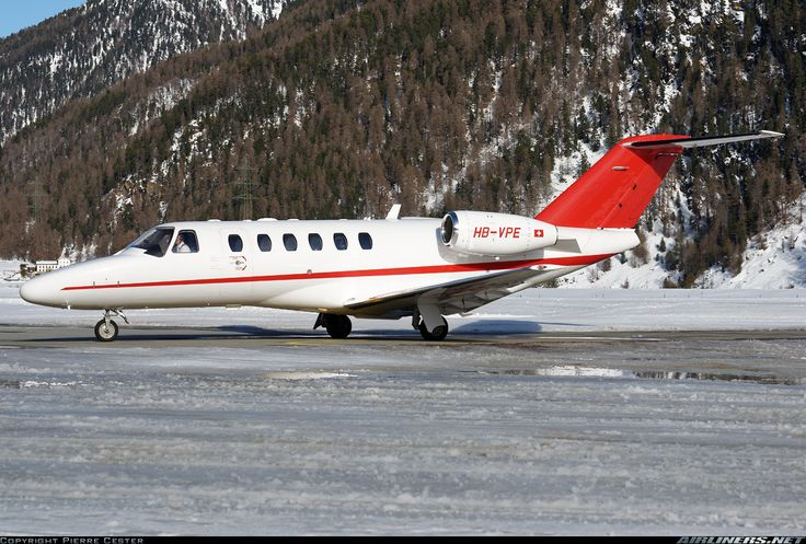 Cessna 525A Citation CJ2+, Untitled, HB-VPE, cn 525A-0375. Samedan, Switzerland, 21.2.2016.