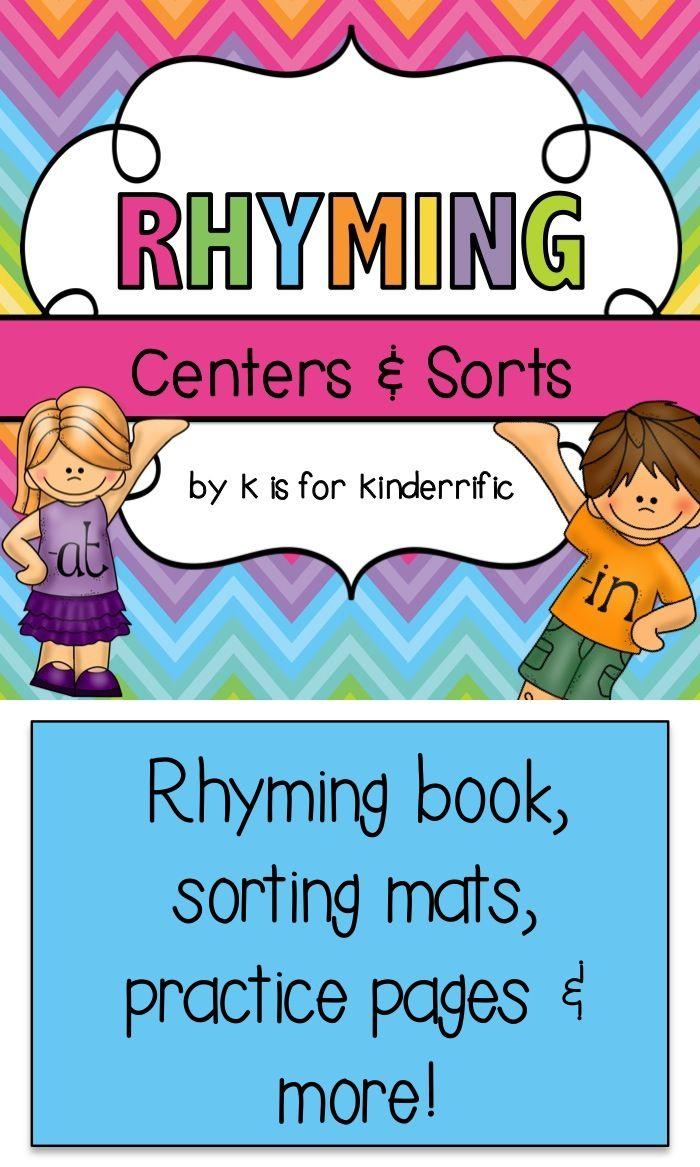 92 best Rhyming Activities images on Pinterest | Rhyming activities ...