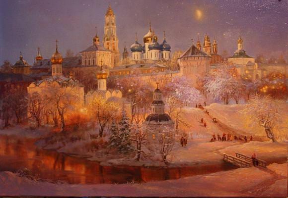 Рождественский вечер в Загорске, автор Владимир. Артклуб Gallerix