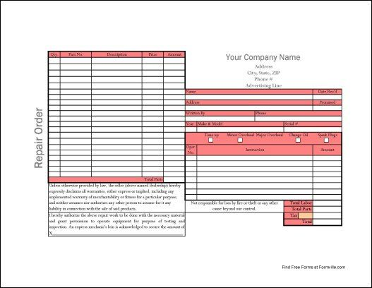 25 best templates images on Pinterest Patterns, Boat and Car - auto repair invoice template