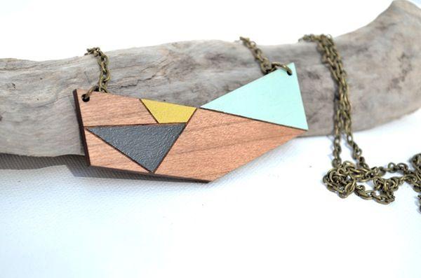 Image of Wooden Chevron Pendant