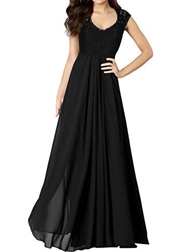 Miusol® Women's Casual Deep- V Neck Sleeveless Vintage Maxi Black Dress >>> Visit the image link more details.