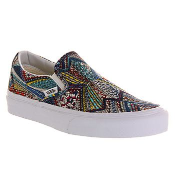 vans espresso pattern classic slip-on