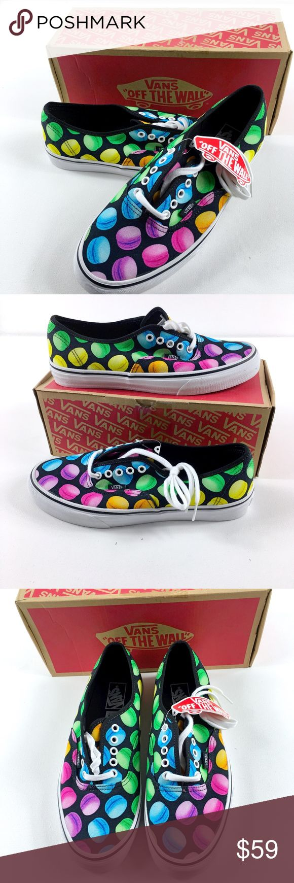 Vans Authentic Late Night Macaroon Unisex Vans Authentic Late Night Macaroon Black RARE and collectable Brand new in original box Sizes: 6Men/7.5 Women 8 Men/ 9.5 Women  Rare collectable Vans for the Macaroon Lover or Skater in your life.  Holiday Gift/ Sneakers / Skate Shoes/ Macaroon Vans Shoes Sneakers