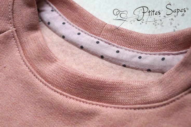 P'tites sapes : bordures d'encolure avec du biais jersey
