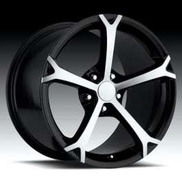"""Corvette Wheel, Grand Sport Style, 19"""" x 10"""", Black MachineFace, 2005-2012 http://www.ecklerscorvette.com/corvette-wheel-grand-sport-style-19-x-10-black-machineface-2005-2012.html"""