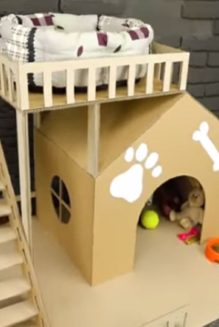 How To Make Amazing Puppy Dog House From Cardboard Video Amazing