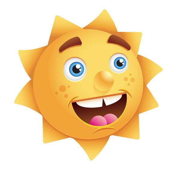 Create a happy sun character - Illustrator