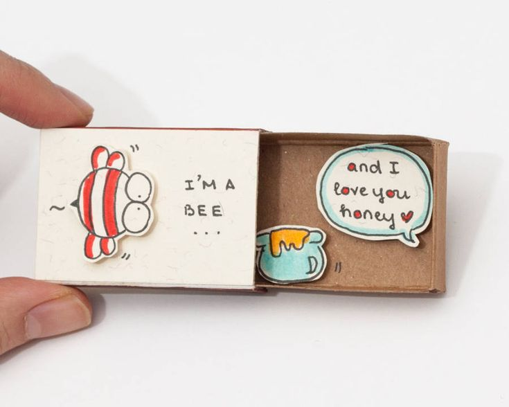 Cute Matchboxes to Profess Love Trang Hoang is an artist who likes to play with symbols and words. She revisits little matchboxes in order to create adorable little messages to profess your love. Little illustrated characters and plays of words that reveal all their poetry one the boxe opened. These adorable objects are available on the artists online shop. #xemtvhay