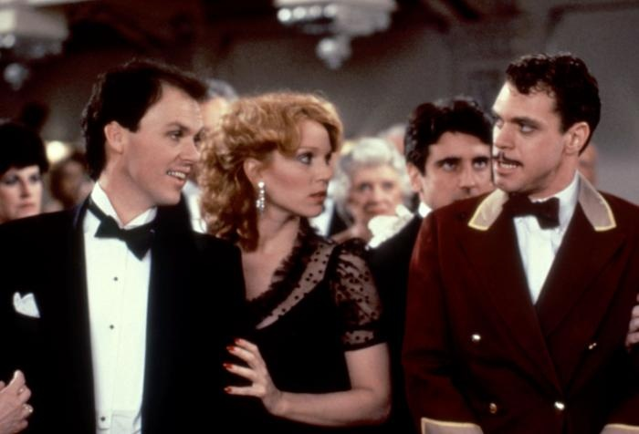 """Michael Keaton, Marilu Henner, Griffin Dunne and Joe Piscopo from """"Johnny Dangerously"""" (1984)"""