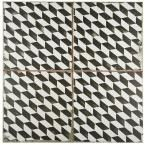 Merola Tile Kings Espiga 17-3/4 in. x 17-3/4 in. Ceramic Floor and Wall Tile (11.3 sq. ft. / case), Black And White/Low Sheen