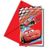 Disney Cars 2 - Einladungskarten + Umschläge, 6 Stück