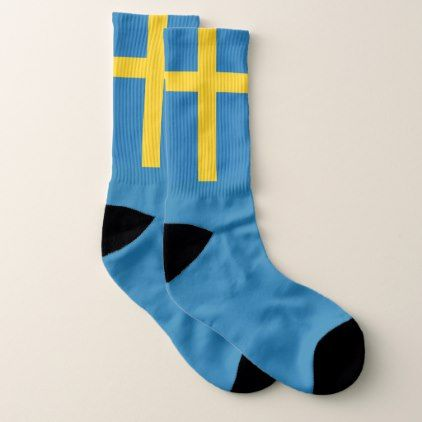 #Sweden flag socks - diy cyo customize personalize design