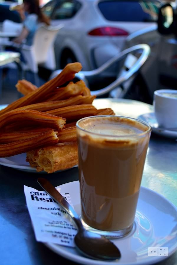 Churros con cafe