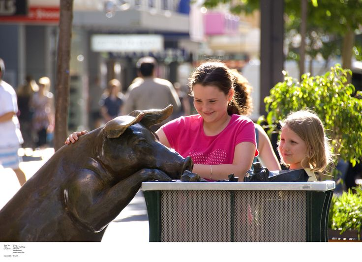 Rundle Mall Pigs.     Image Source: SA Tourism Commission.