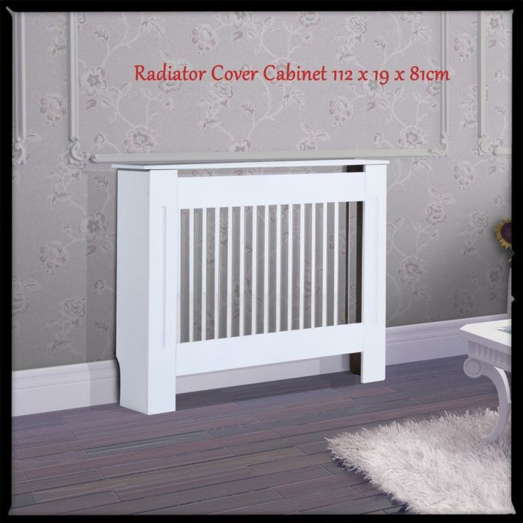 Radiator Cover Cabinet Vertical Modern Style Painted Slats ...