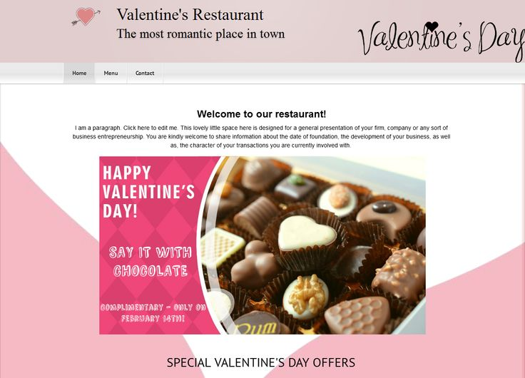 #Valentine's Day is just around the corner. Surprise your clients by 'dressing up' your #website with a new #design! https://www.mycylex.co.uk/designs
