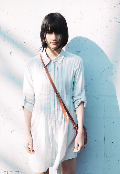 shirt dress & shoulder strap bag