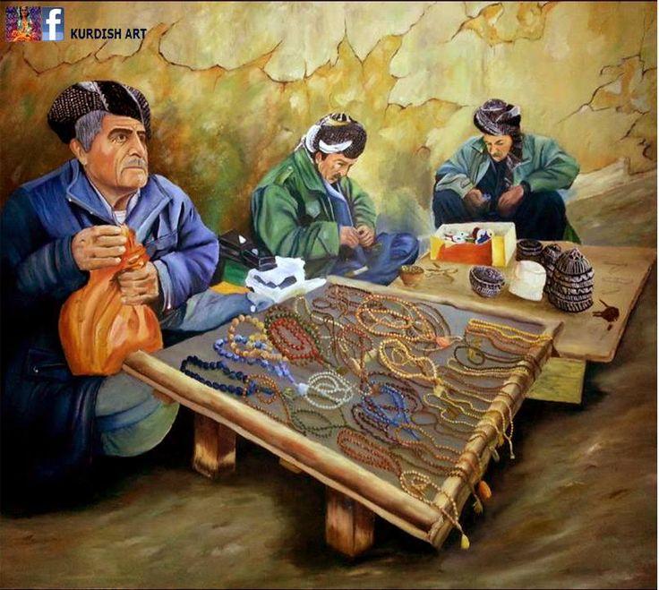 Kurdish art - Art work ( painting ) of Twana Marjan 1977
