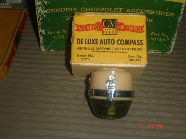 Deluxe Auto Parts >> GM Deluxe Auto Compass | Vintage Auto Accessories | Car ...
