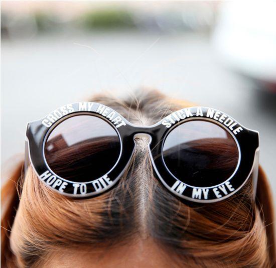 """promises promises"" sunglasses – FIVE & DIME"