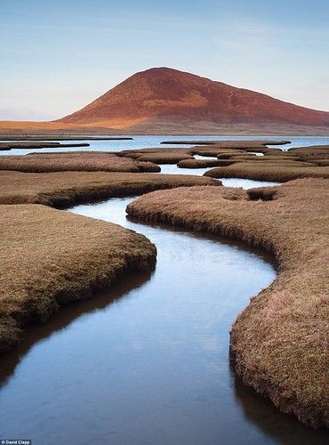 The isolated Rodel Saltmarsh on the Isle of Harris, in Scotland. Looks