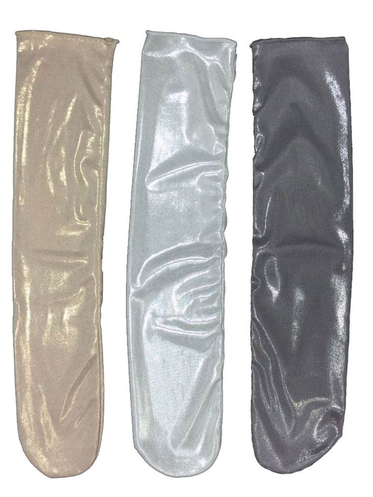 New Unisex Gold & Silver & Dark Gray Metal Texture Long Socks (3 options)