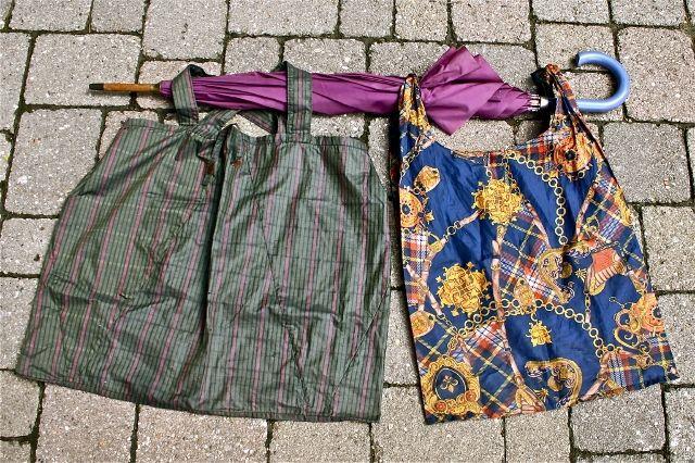 Riciclo creativo ombrelli vecchi o rotti
