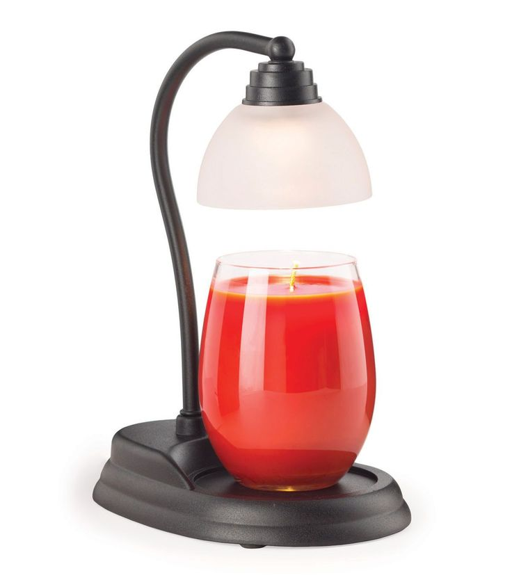 Hudson 43? Candle & Light Collection Black Aurora Candle Warmer Lamp
