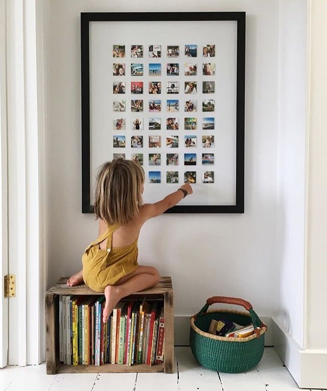 Idea for framing Instagram photos from Courtney Adamo of Babyccino Kids.