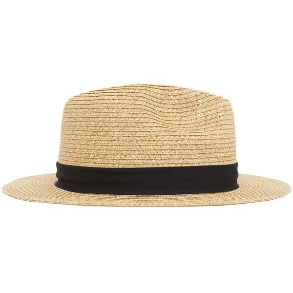 MANGO MAN Straw Hat ($15) ❤ liked on Polyvore featuring men's fashion, men's accessories, men's hats and mens straw hats
