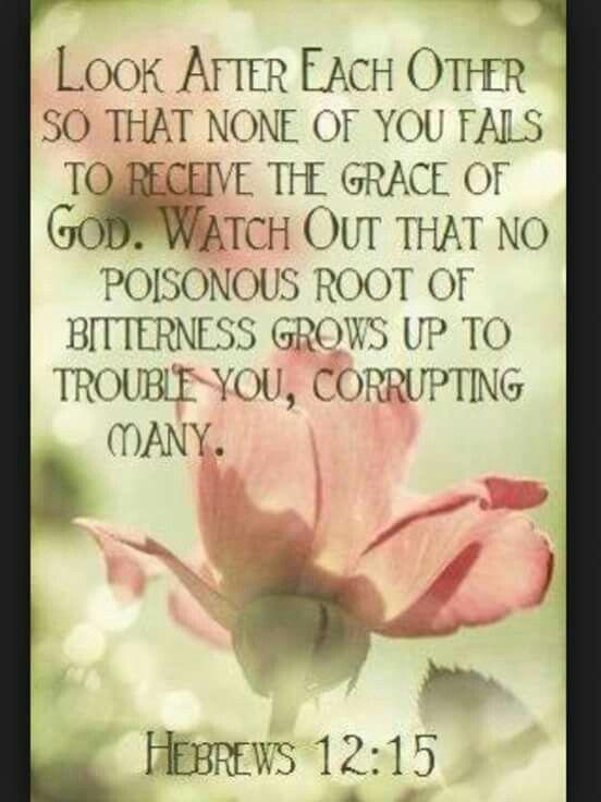 Hebrews 12:15...