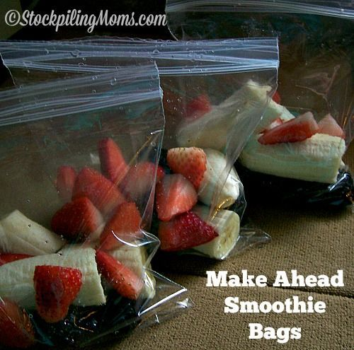 Make Ahead Smoothie Bags are the best way to prep your smoothies for the week!