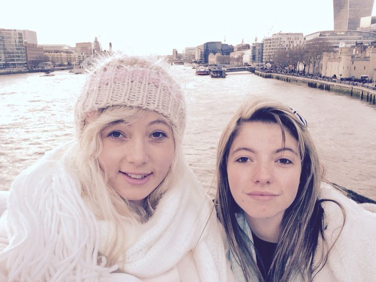 Selfie with sister on the tower bridge in London
