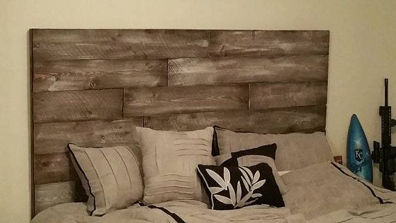 Add instant character to any bedroom with this beautiful faux reclaimed wood headboard. This headboard measures 74W x 42H and approximately 1.5