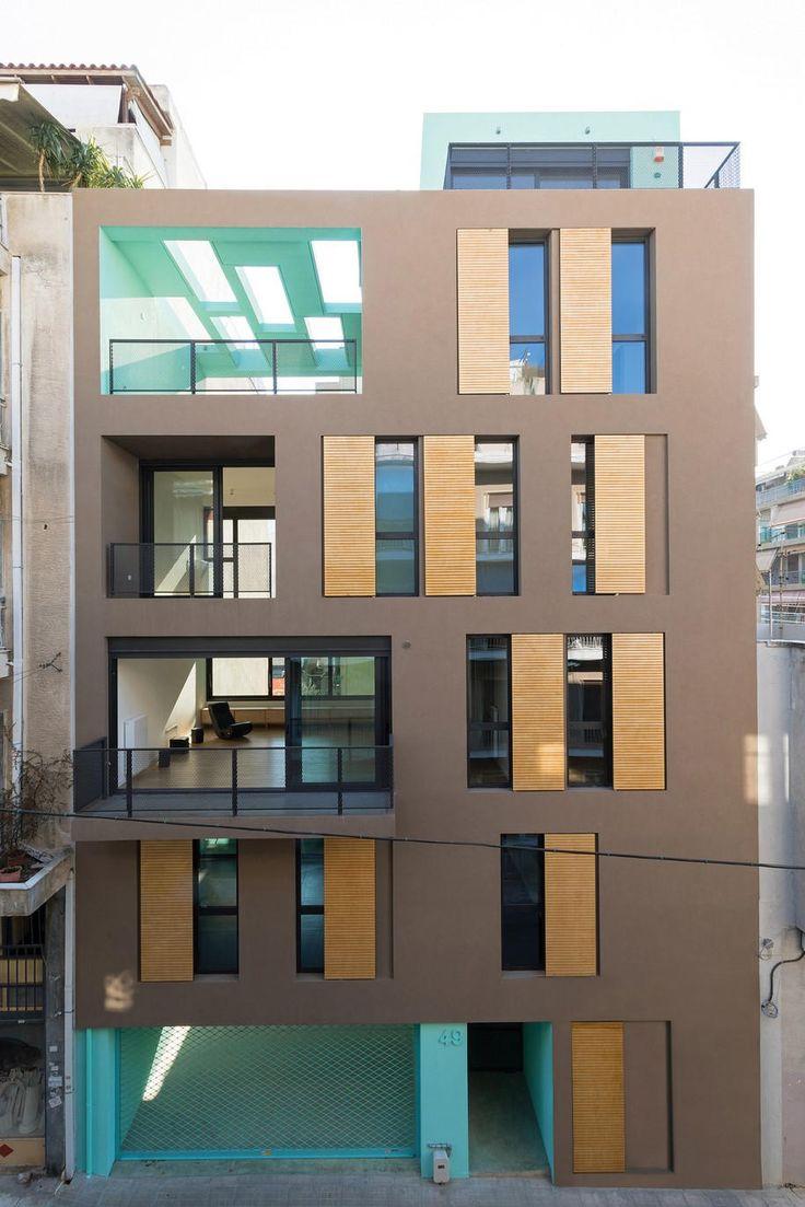 Mies van der Rohe award, Hansen, Mixed Use Building, Athens, Architect, AREA, Styliani Daouti, Giorgos Mitroulias, Michaeljohn Raftopoulos, polykatoikia, colours